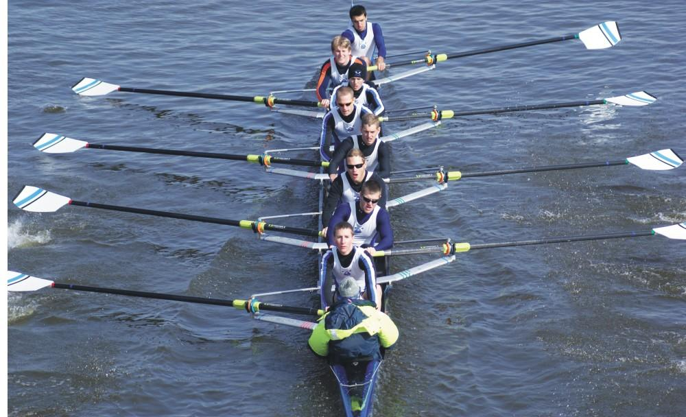 GVL Archive / Eric CoulterThe GVSU rowing team will be one of many Grand Valley teams heading to FLorida for Spring training