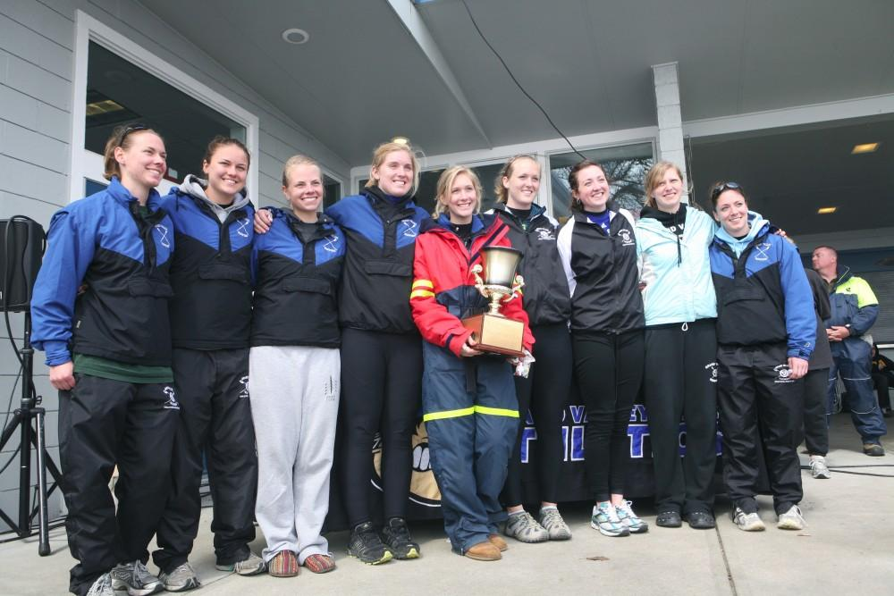 Grand Valley State Women's Varsity 8 wins the Nancy Lubbers Cup