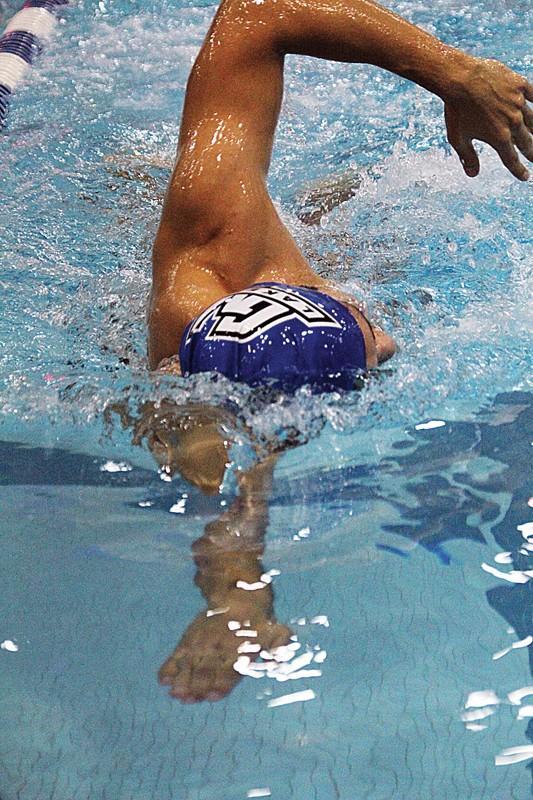 GVL / Archive Sophomore swimmer Milan Medo at practice.