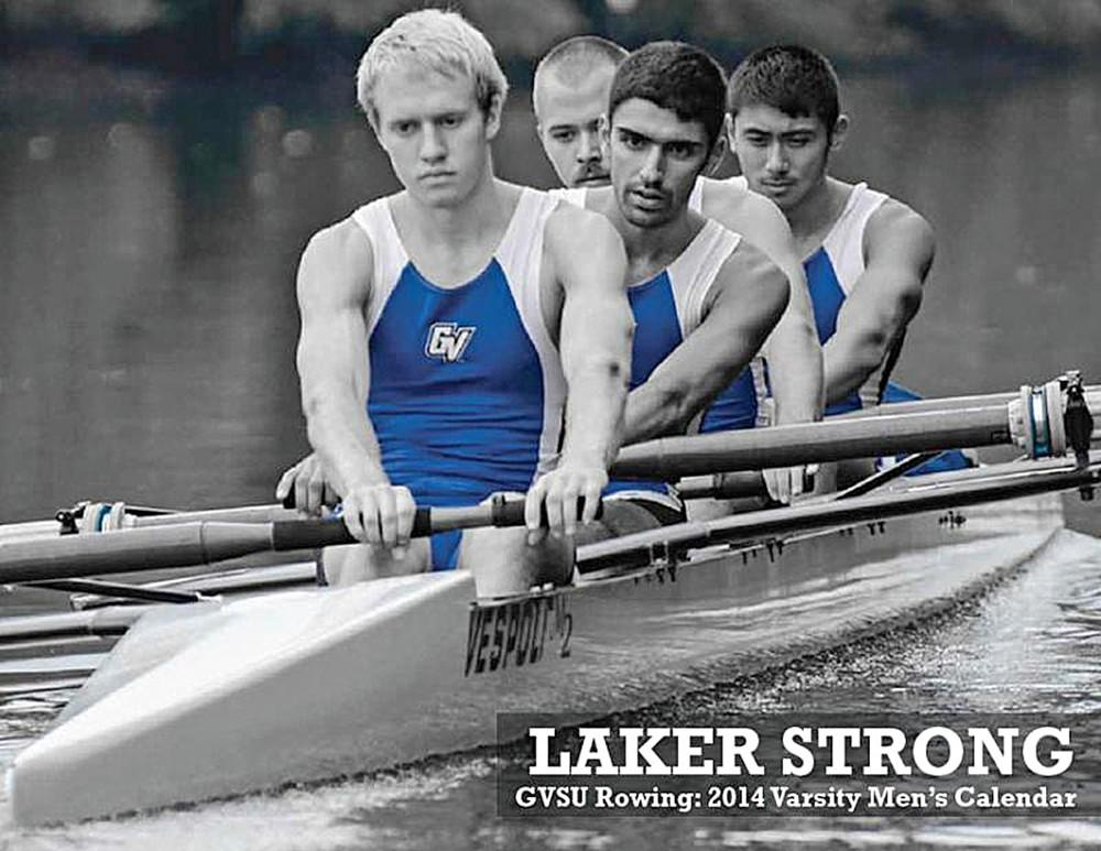 Courtesy / Thomas ConnollyA photo from the Rowing Team's calendar last year; the team will be selling this year's calendar in Kirkhof Center from 9-11 am on Monday, Wednesday, and Friday this week.