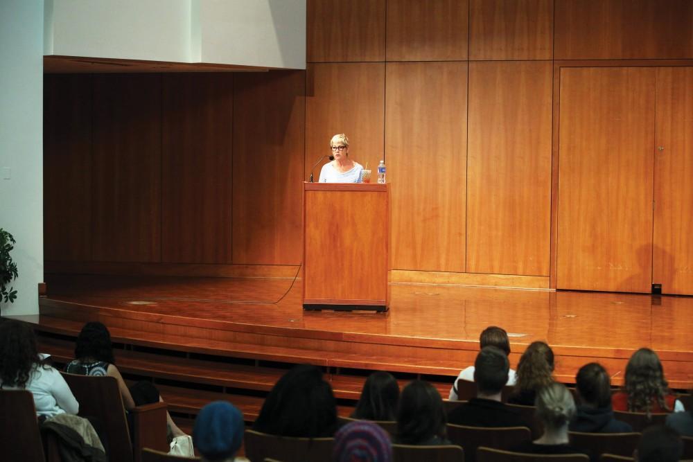 GVL / Emily FryeAuthor Marcia Aldrich reads her award winning essay