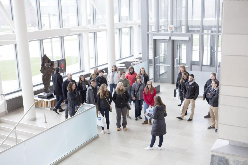 GVL / Sara Carte - High school students recieve a tour of Grand Valley for Laker Experience Day on Friday, Apr. 8, 2016.