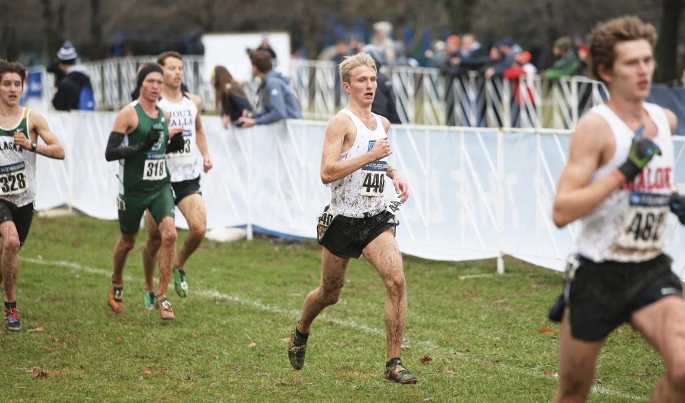 GVL/Kevin Sielaff - Chris May participates in the 2014 Cross Country Championships in Louisville, KY.
