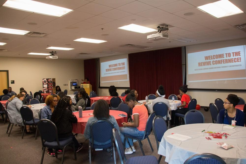 GVL / Dylan McIntyre. Saturday, October 21, 2017. Revive Conference co-sponsored by Sigma Lambda Gamma was hosted to talk about the