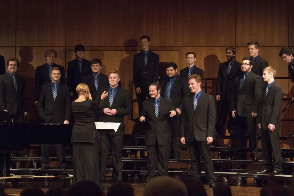 GVL/Hannah HillThe Varisty men's choir performed Saturday, December 9, 2017 led by director Judy Roelofs.