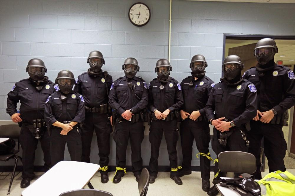 GVL / Emily Frye Grand Valley Police Department work alongside other safety departments in the surrounding area to train in the case of an active shooter on Sunday December 17, 2017.
