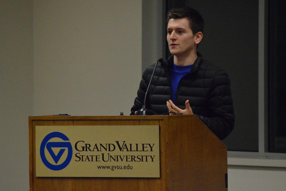 GVL/Hannah Zajac— Students participate in a debate about political events that are happening in the world, on Tuesday 13 Mar 2018.