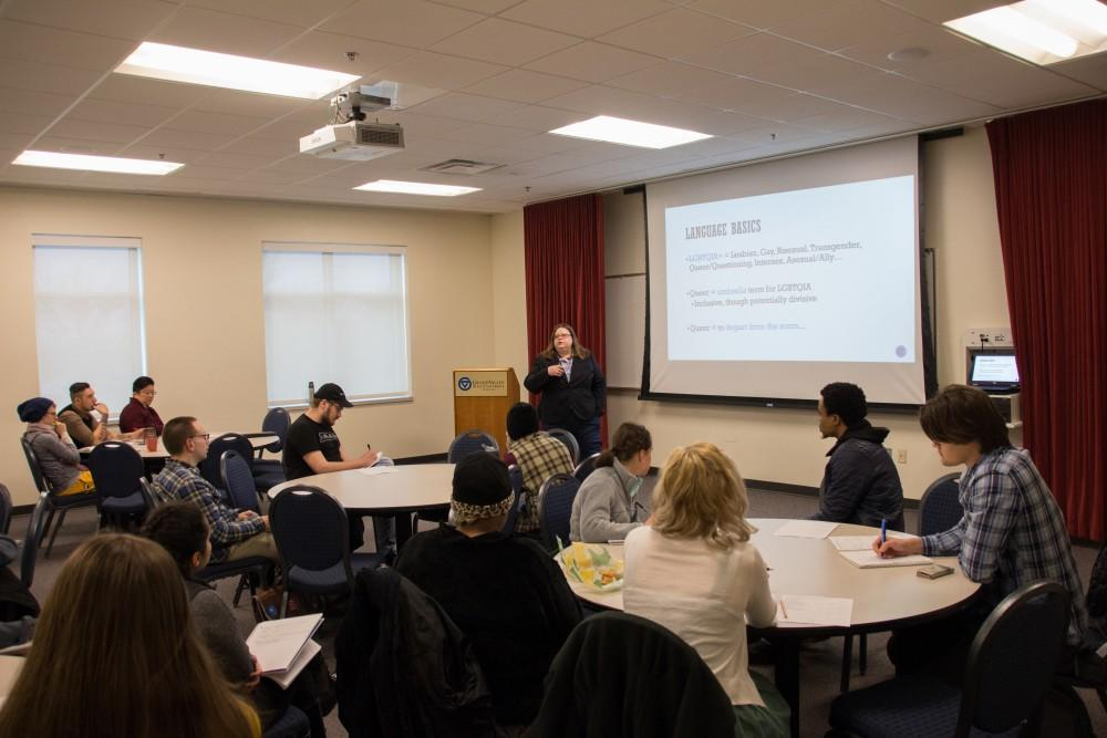 GVL / Dylan McIntyre. Tuesday, April 3rd, 2018.  Queer Criminology Lecture.