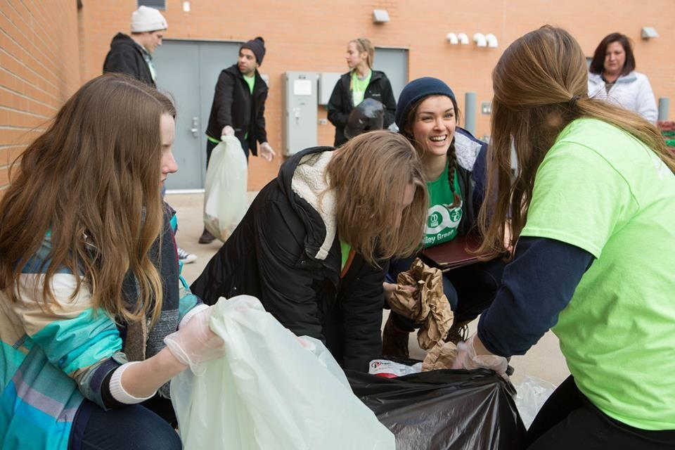 <p>Courtesy / Green Team Green Team volunteers sort waste from campus dining facilities.</p>