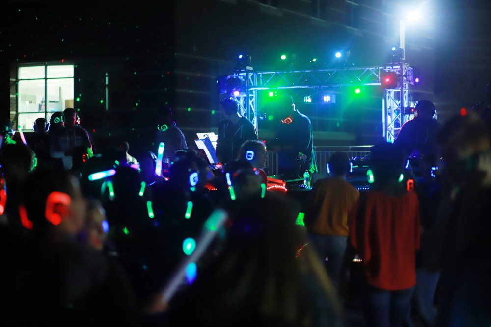 <p>Silent Disco on Friday, September 7th, 2018.  GVL / Sheila Babbitt</p>