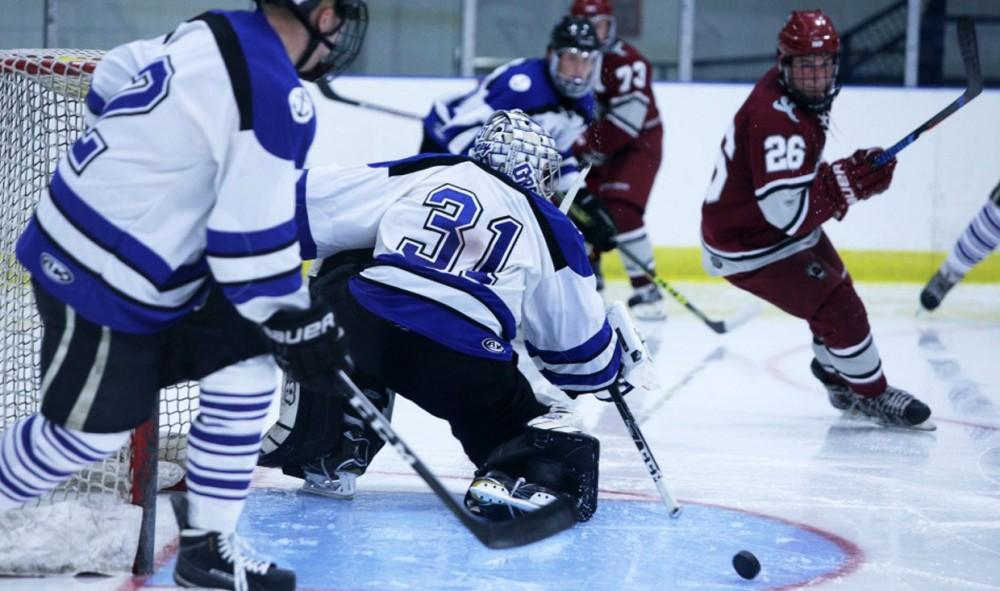GVSU hockey skates past Lewis University, Improves to 4-0