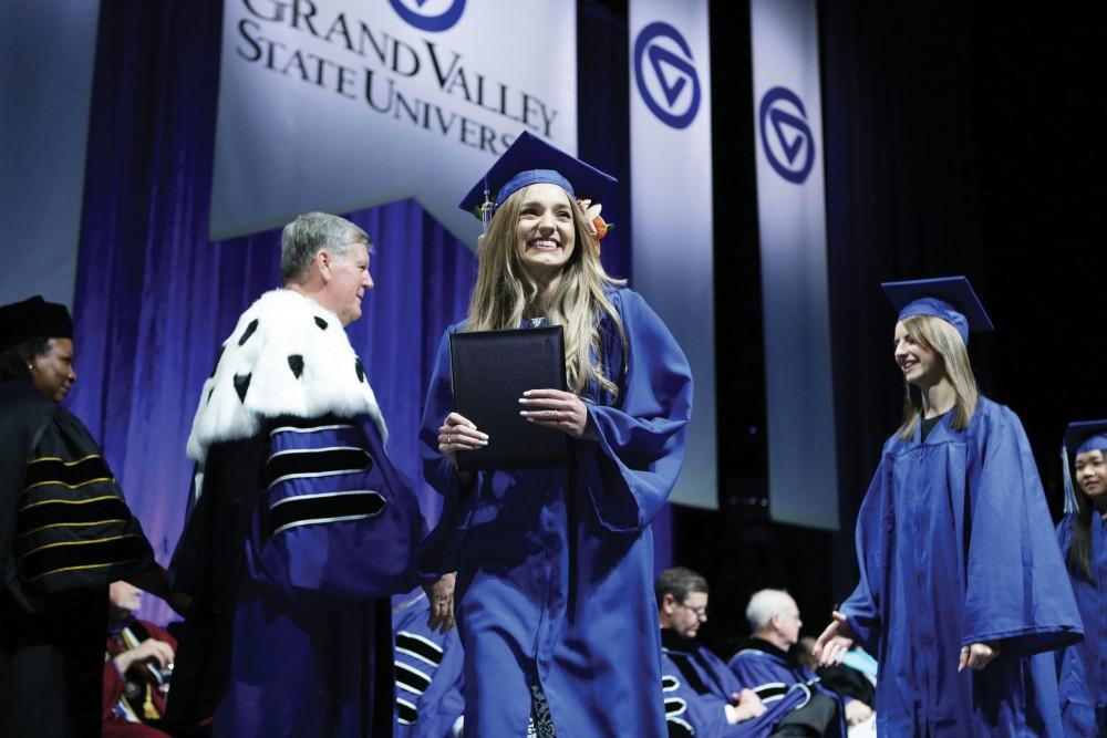 <p>GVSU Commencement on Saturday December 9, 2017.  GVL / Archive</p>
