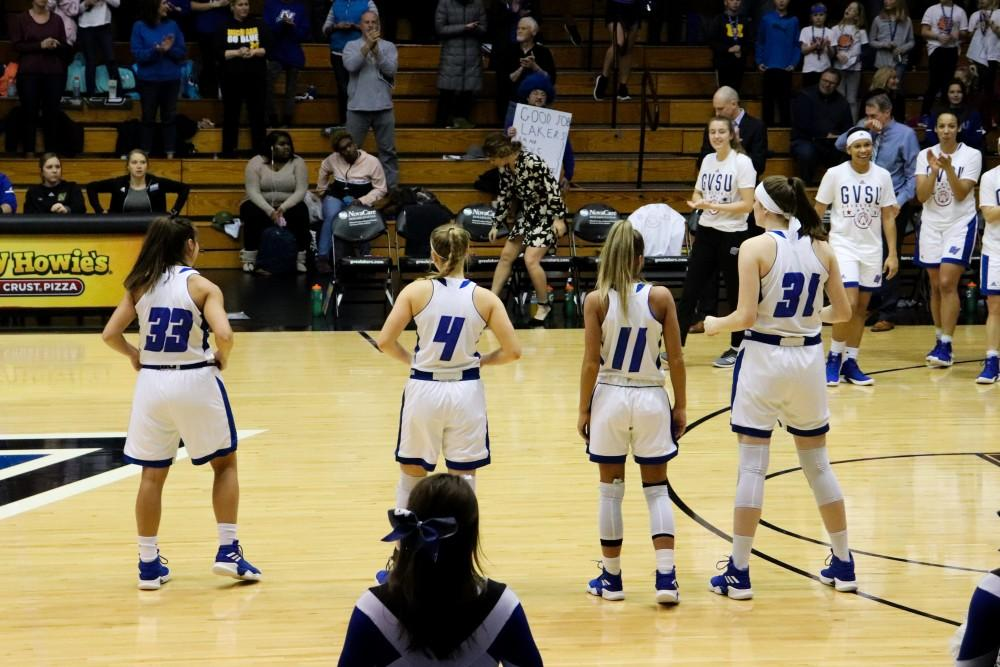 <p>2/21/2019, GVSU Fieldhouse Arena, Women's Basketball GVSU vs. Northern Michigan. GVL/Katherine Vasile</p>
