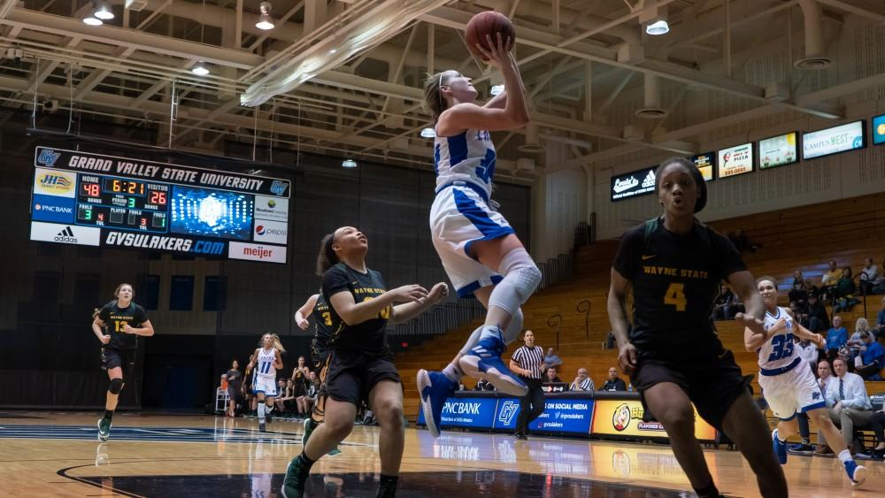 GVSU men's basketball upsets Lake Superior State, falls short against No. 5 ranked Ferris State