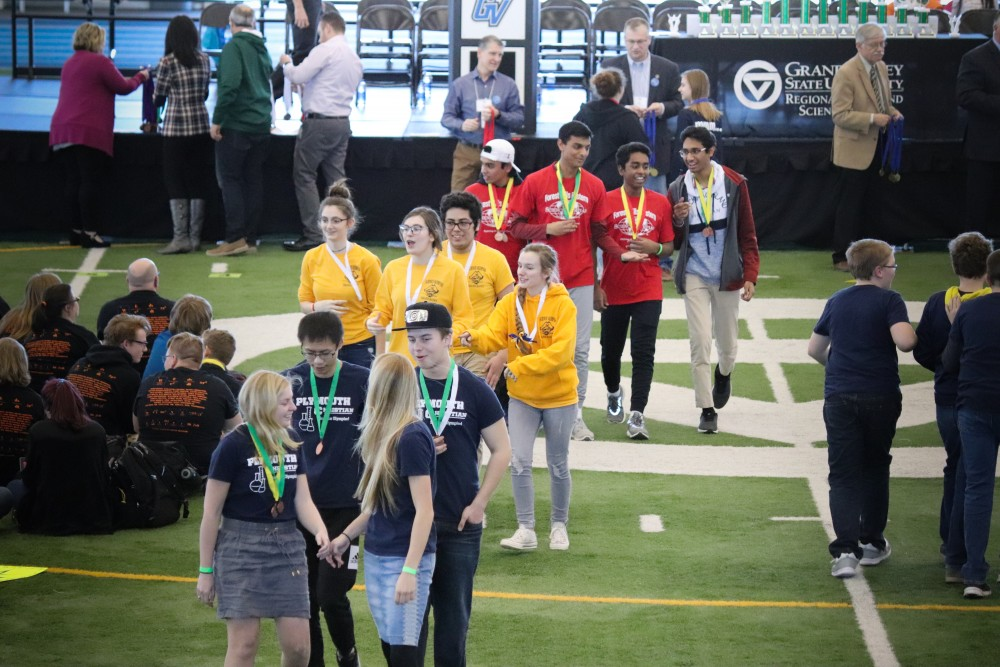 GVL/Katherine Vasile, 3/23/19, Kelly Family Sports Center Louis Track And Field, Michigan Science Olympiad