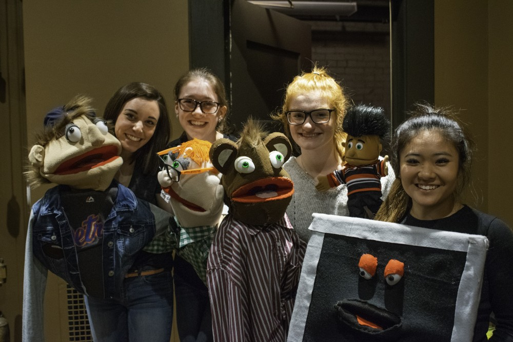 <p>Students from Grand Valley put on a puppet show at the film festival. GVL / Andrew Nyhof</p>