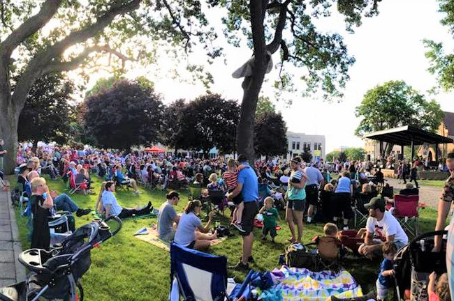 Courtesy / localspins.com  Kicking Off in June: Muskegon's Parties in the Park is just one of several community concert series across West Michigan.