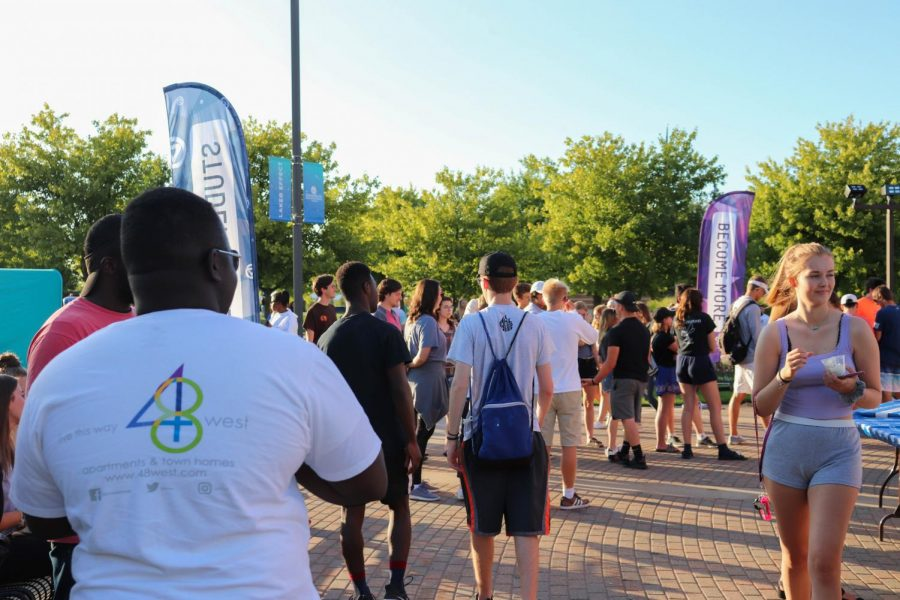 Student organizations aimed to make GVSU a welcoming place for incoming freshmen during welcome week. GVL | KATHERINE VASIL