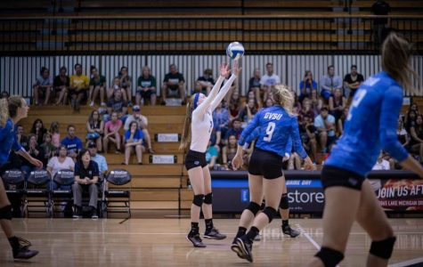 GVSU volleyball team splits the 2019 NSU Shark Invite II with two wins and two losses