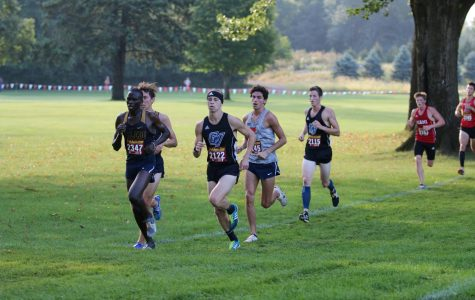 Cross Country team takes first place at the Lewis Crossover Conference