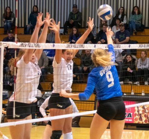 GVSU Volleyball drops Parkside match, wins on senior night