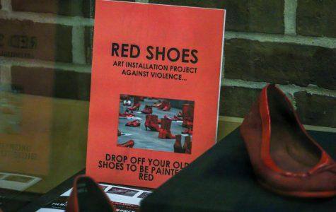 Stepping towards awareness with red shoes