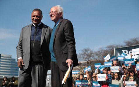Rev. Jesse Jackson endorses Bernie Sanders at Grand Rapids Rally