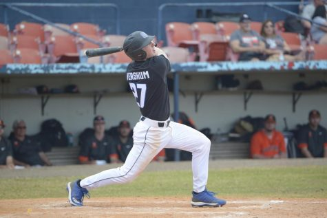 GVSU Baseball's Blake Vershum talks about living a triple life filled with academics, firefighting and America's game