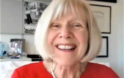 Dr. Eva Feldman gave her presentation over Zoom. (GVL / Ysabela Golden)