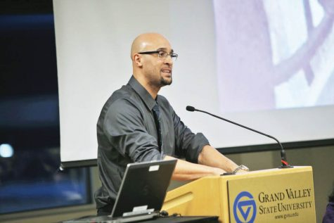 GV professor Louis Moore discusses historic plight, progress of Black athletes