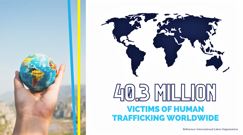 In the United States alone, 22,326 victims and survivors of human trafficking were identified in 2019. (Courtesy Neal Lofy)