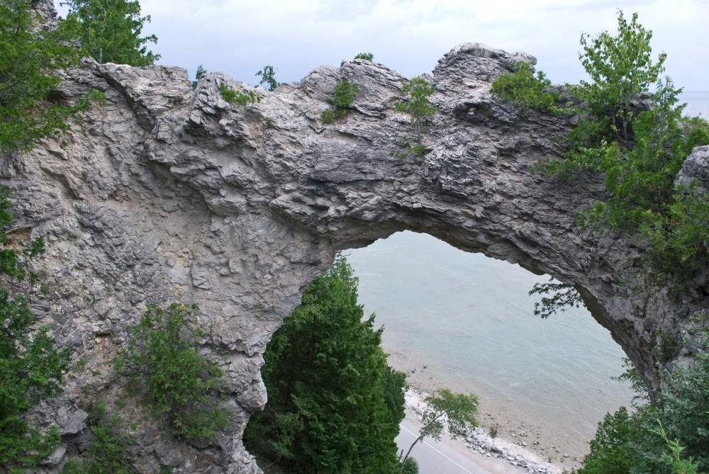 Courtesy Photo / Stacey KasbowStacey Kasbow, an artist featured in the Senior Thesis Exhibit, photographed historical and unigue place of the Upper Peninsula and Straits are of Michigan. Pictured here is Arch Rock, Mackinac Island: Established as a national park in 1875, Mackinac Island later became Michigan