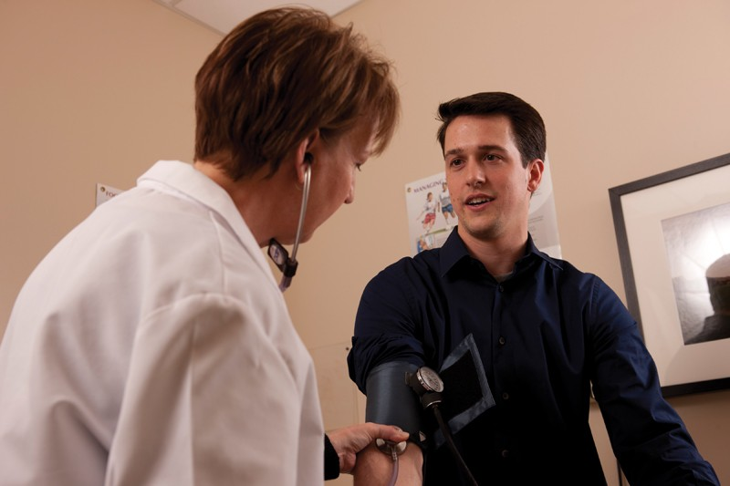 Courtesy / GVSU Family Health CenterA student being examined at the GVSU Family Health Center.