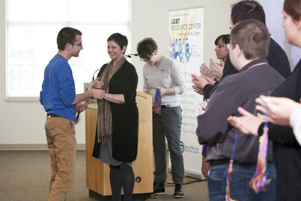 Courtesy Photo / GVSU News & InformationStudents are honored during last year's Lavender Graduation.