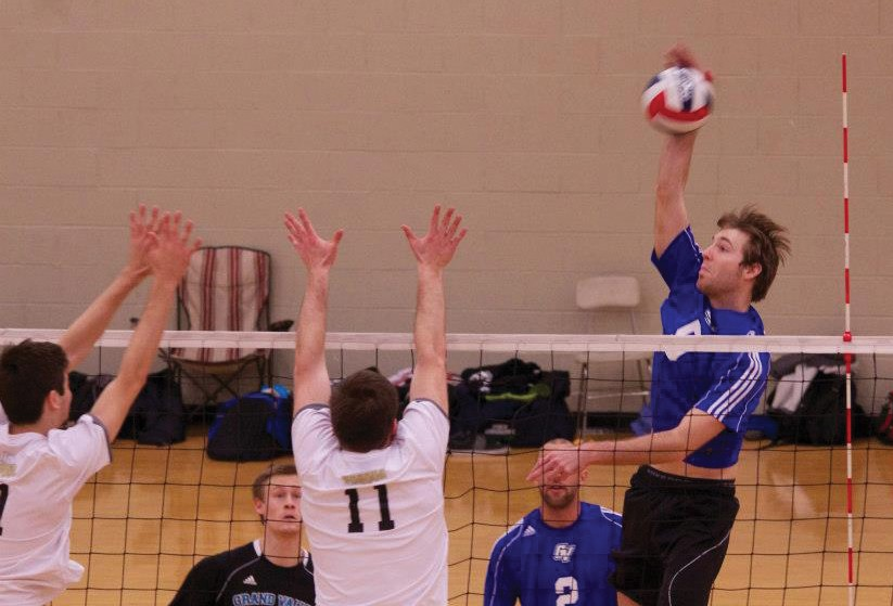 Courtesy / Luke Palmer  GVSU Mens club volleyball preparing for Nationals.