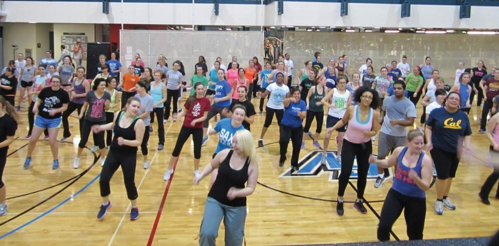 Courtesy / Katie WebberGroup exercise classes held on campus.