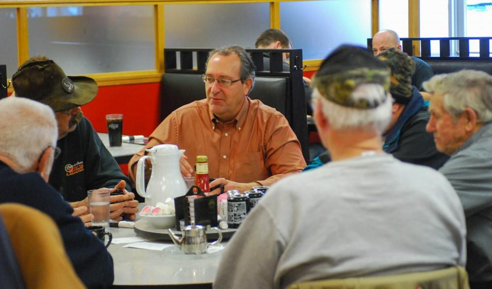 GVL / Hannah Mico. State representative Roger Victory held his office hours at Murrays Restaurant here in Allendale on Friday morning, offering his time to his constituents.