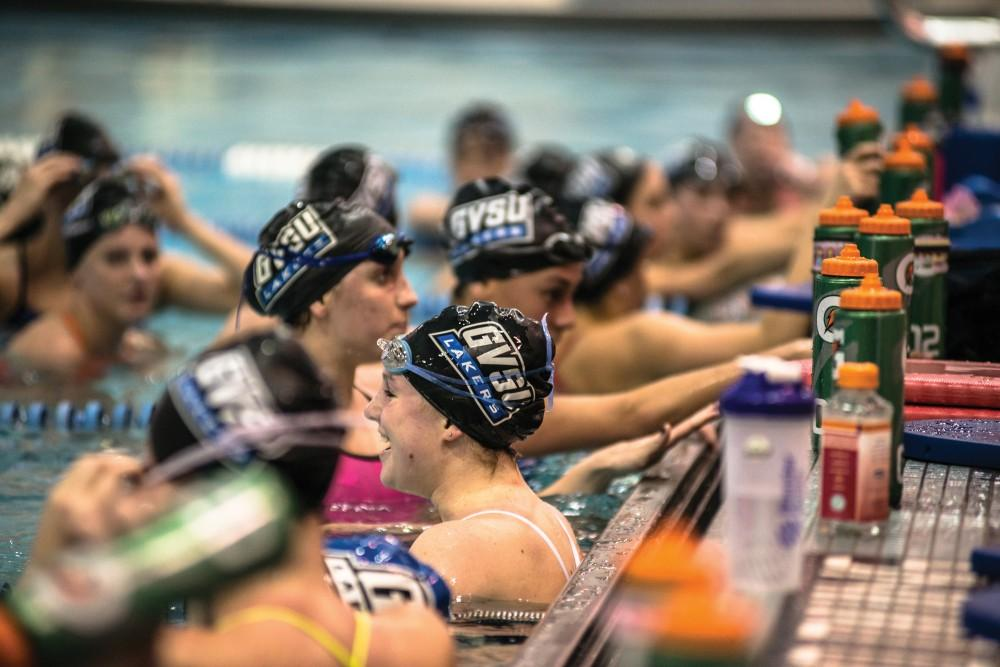 GVL / Mohamed AzuzThe swim team practicing last Monday for their meet against Findlay on Saturday.