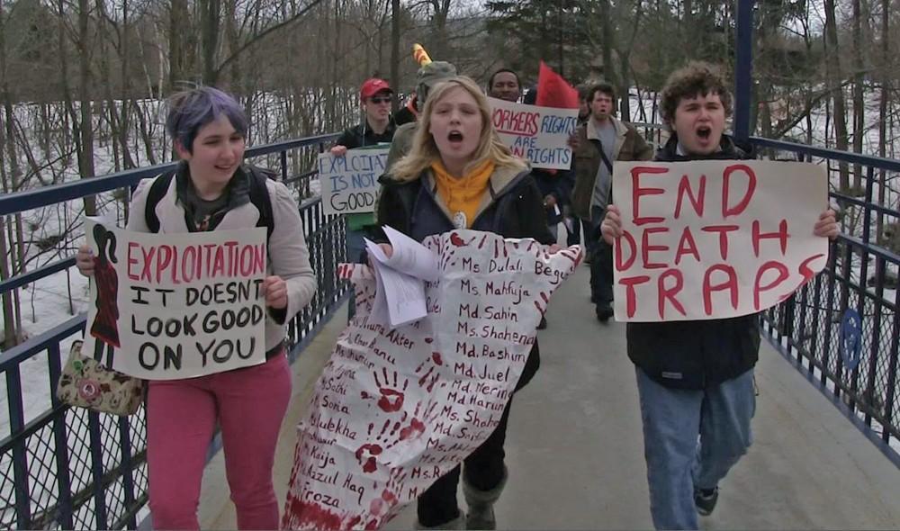 Courtesy / Lindsey DislerUSAS protest; Lindsey Disler pictured in center.