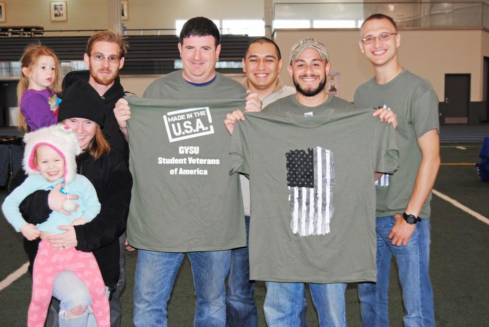GVL/Brianna OlsonSimeon Switzer (second from the right); acting leader of this group of veterans.