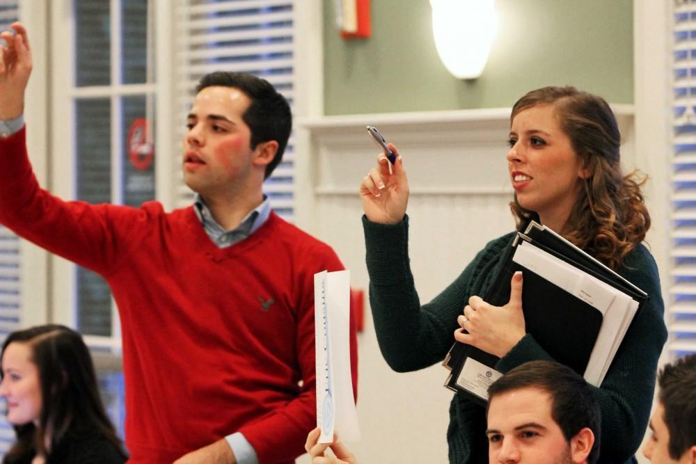 GVL / Emily Frye  Student Senate President Andrew Plague and Executive Vice President Emma Moulton