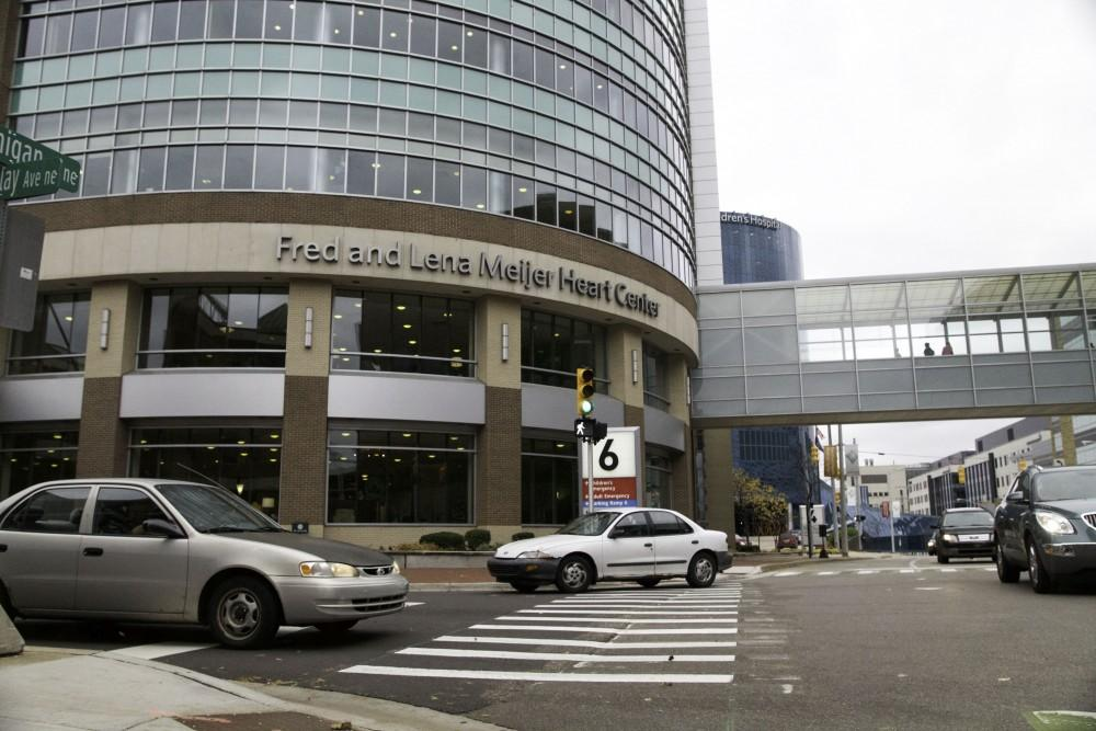 GVL / Sara CarteThe Fred and Lena Meijer Heart Center is located on the medical mile downtown Grand Rapids on Nov. 6.