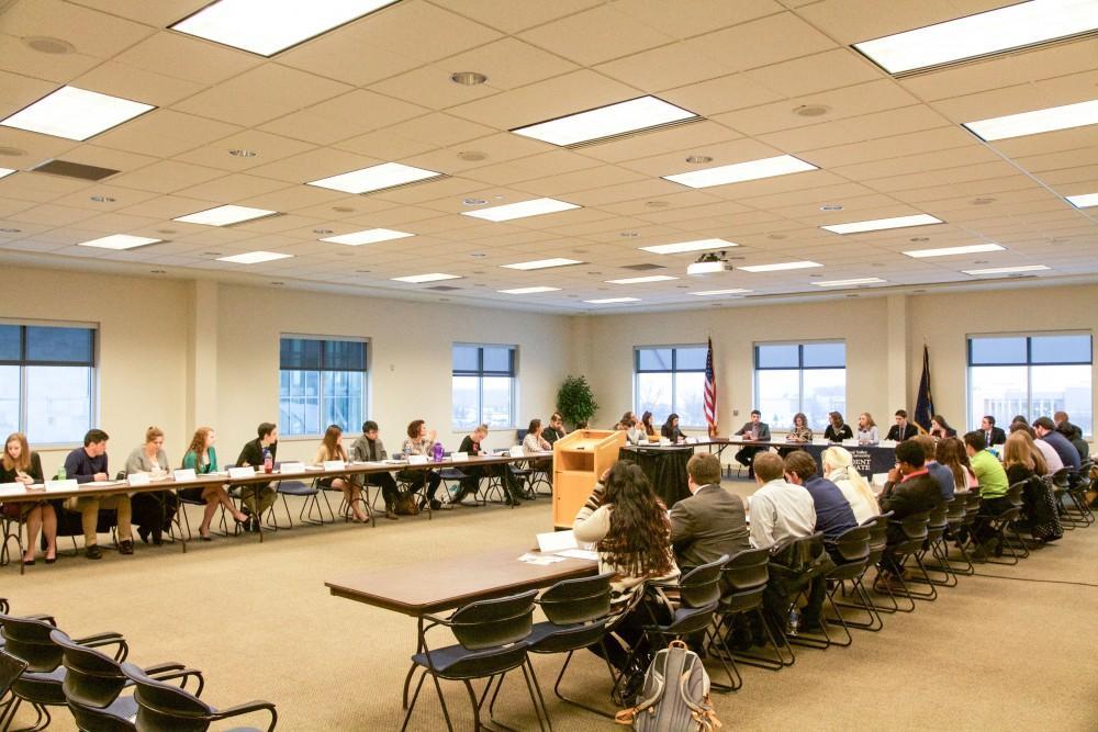 GVL / Sara CarteStudent Senate members participate in the Student Senate meeting in the Kirkhof center on Jan 14.