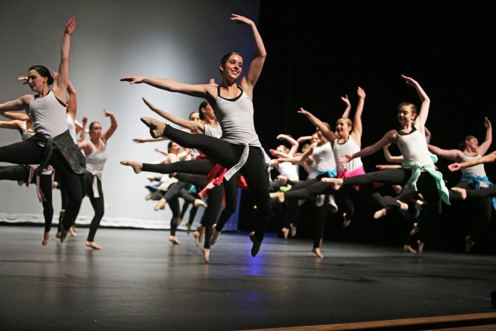 GVL / Emily Frye    Grand Valley State University Dance Troupe recital on April 16, 2016.