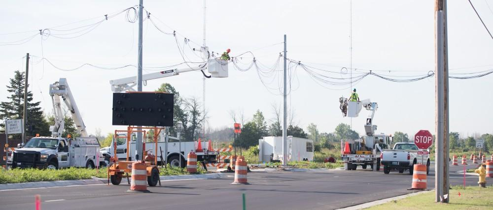 GVL/Kevin Sielaff - 48th Ave. final construction on Thursday, August 18, 2016.