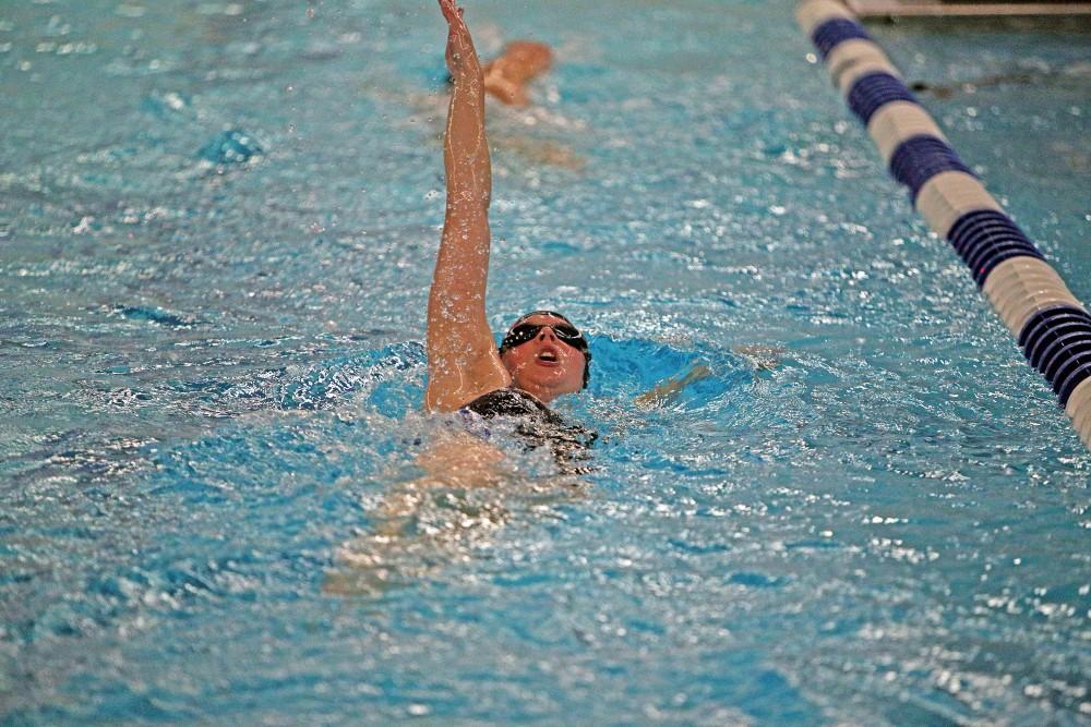 GVL / Emily Frye      Leonie Van Noort works hard during practice on Thursday Oct. 13th, 2016.