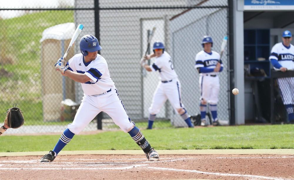 GVL/Kevin Sielaff - Matt Williams (7) stares down the ball during the game vs. Ashland on Wednesday, April 12, 2017.