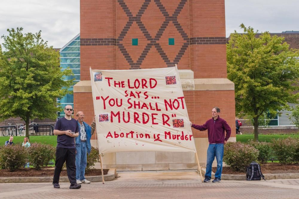 GVL / Dylan McIntyre An anti-abortion rally that took place mid afternoon on August 28th, 2017.