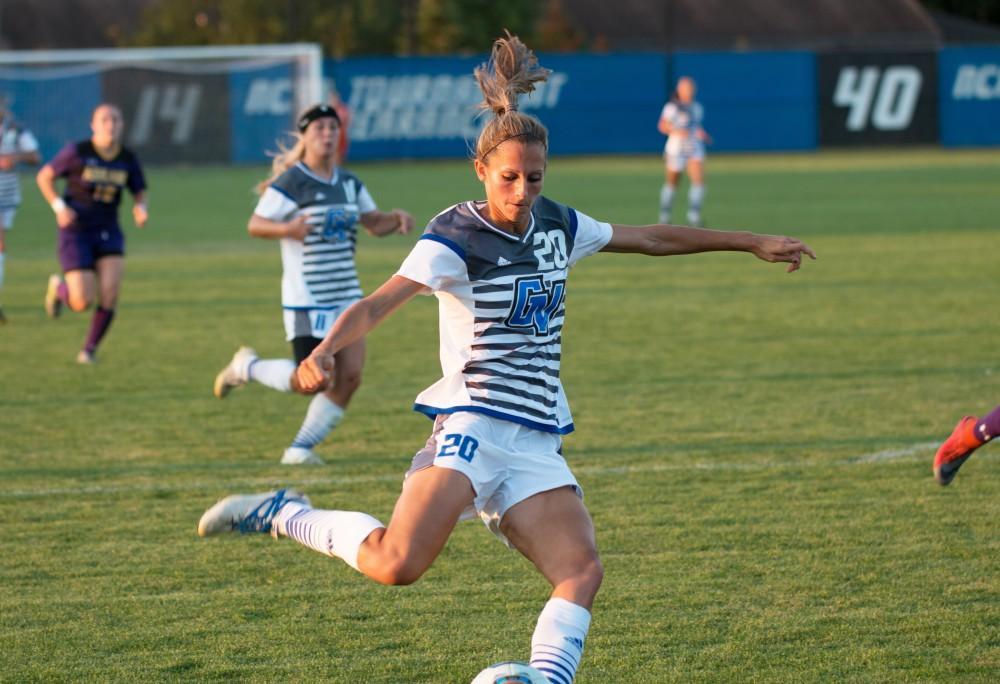 GVL / Spencer Scarber Grand Valley Womens Soccer won against Ashland University on Fri. September, 15 2017