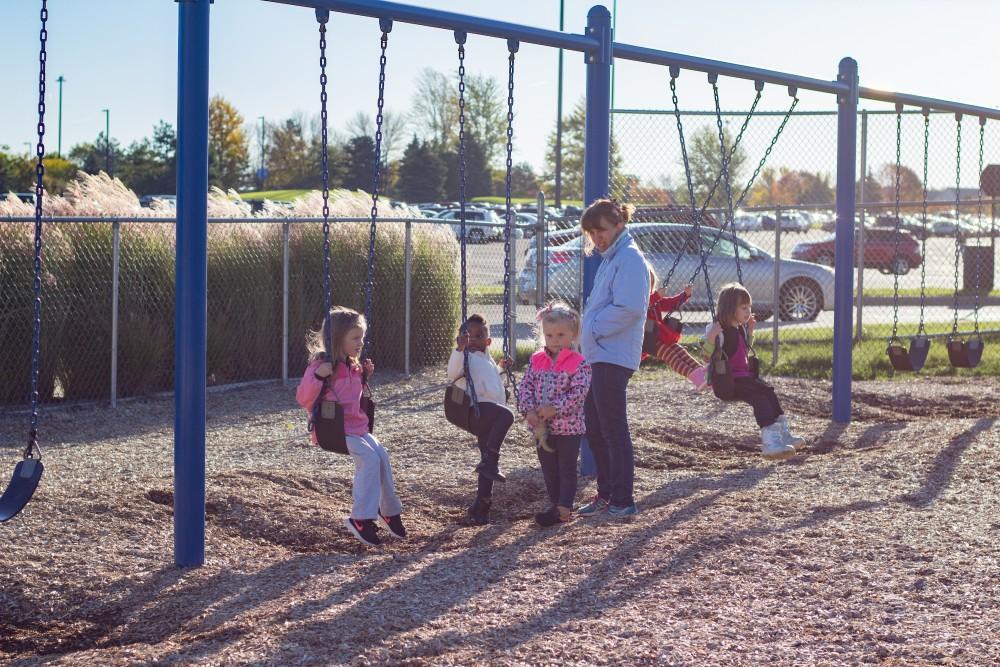 GVL / Dylan McIntyre. Wednesday, October 18, 2107. Childeren Enrichment Center during recess.